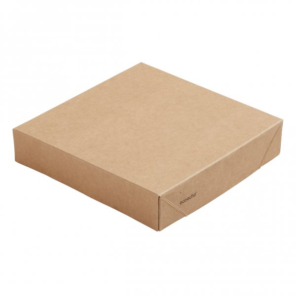 "Karton/PLA Deckel, Braun, ""Viking ecoecho Block"""