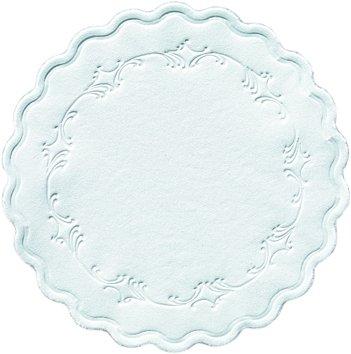 Papieruntersetzer, Weiss, Ø 9 cm