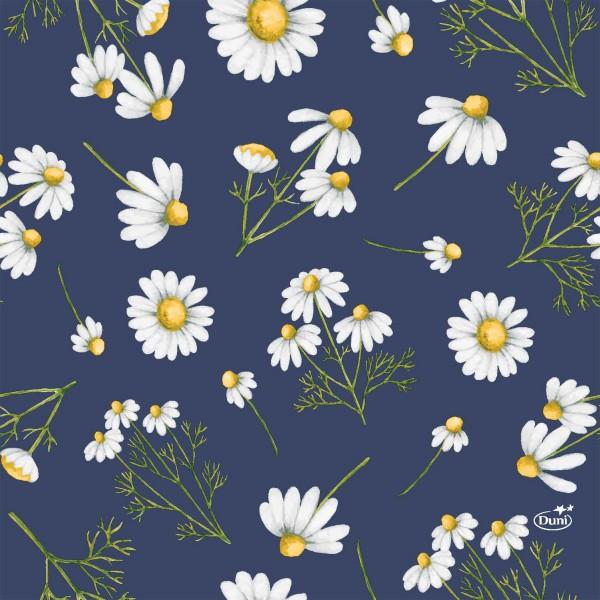 Papierservietten, Blau, Weiss, 33 x 33 cm