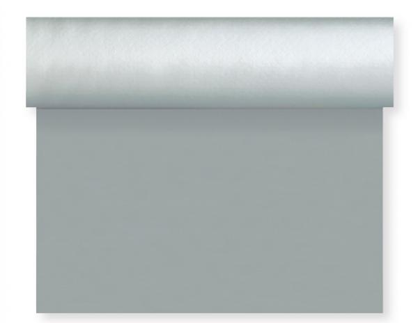 Tischset, Tischläufer, Tête-à-Tête Papier, silber, 40x480cm