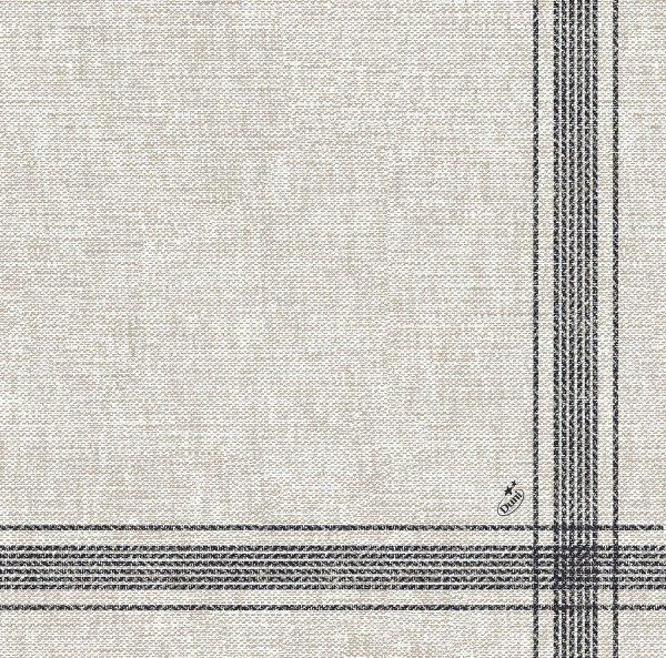Dunilin Servietten, Grau, Schwarz, 40 x 40 cm