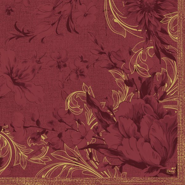 Papierservietten, Rot, Gold, 40 x 40 cm