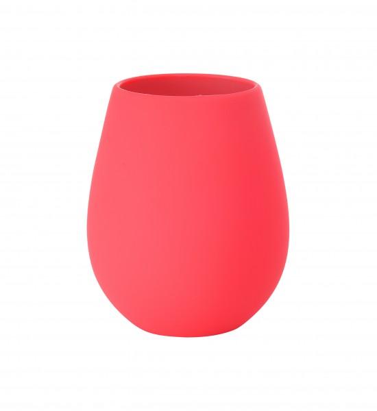 Kerzenhalter Tropical aus Silikon, rot