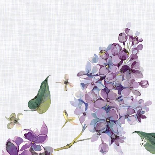 Papierservietten, Weiss, Lila, 40 x 40 cm