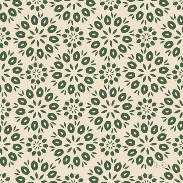 Papierservietten, Beige, Grün, 33 x 33 cm