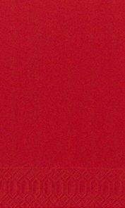 Papierservietten, rot, 33x33cm, 1/8 Falz, 25 Stk.