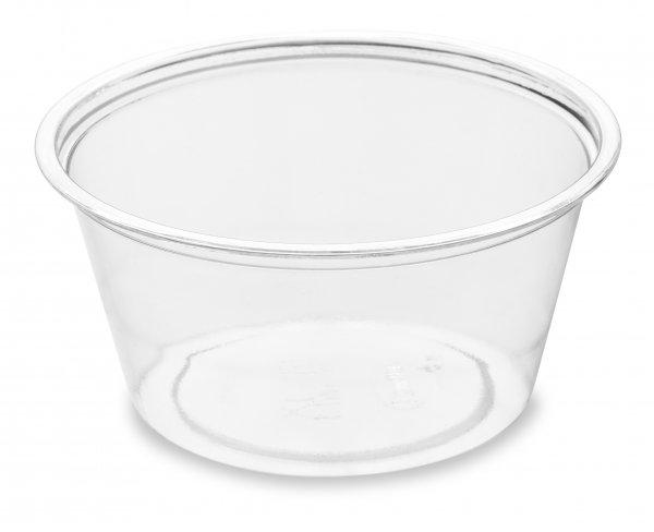 Dressingbecher, rPET, transparent, 0,6 dl