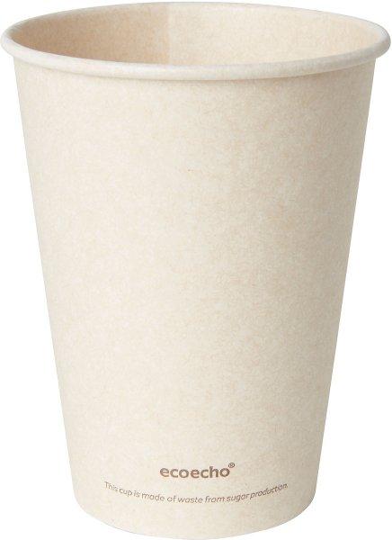 Bio Bagasse Becher, crème, 35 cl