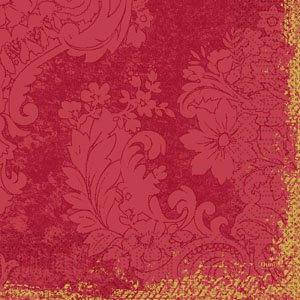 Zelltuch-Servietten, bordeaux, 33 x 33 cm