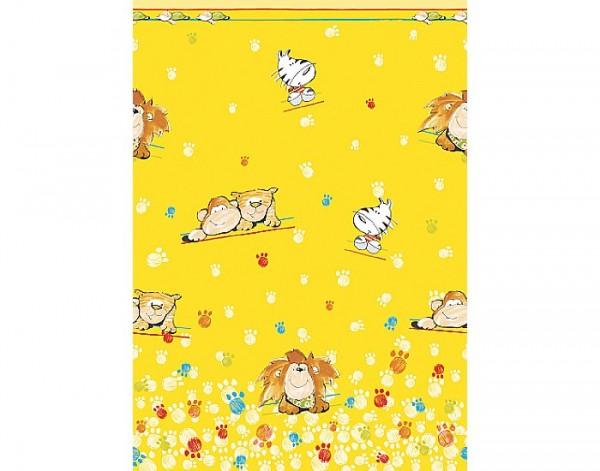 Tischdecke Papier, gelb, 118x180cm