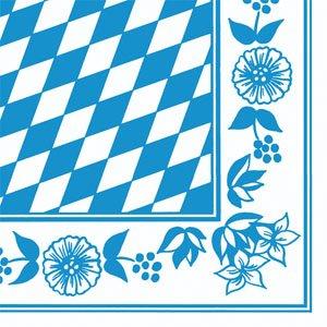 Papierservietten, Blau, Weiss, 40 x 40 cm