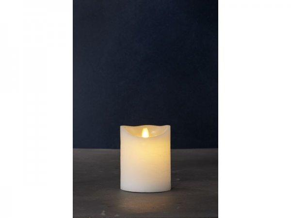 LED-Kerze, weiss, echtwachs, 10cm x 12.5cm
