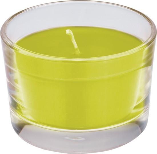 Kerzenglas Ibiza ø 8,5 cm, Höhe 5,5 cm, ca. 18 Std. «kiwi»