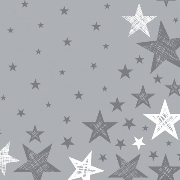 Papierservietten, Grau, Weiss, 33 x 33 cm