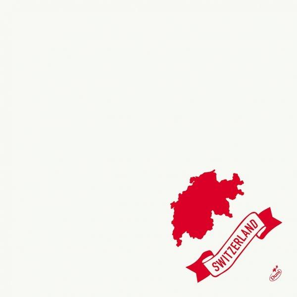 Papierservietten, weiss, rot , 40x40cm, Switzerland