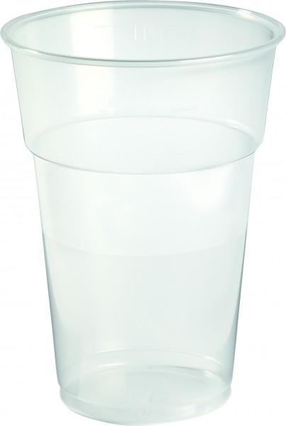 Bierglas Plastik, transparent, 63cl