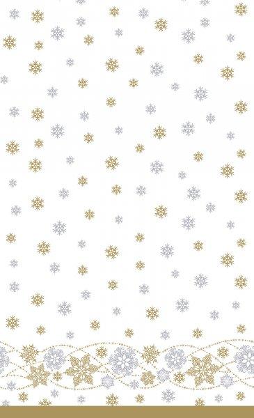 Tischdecke Dunicel, Weiss, Gold, 138 x 220 cm