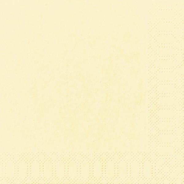 Papierservietten, creme, 33 x 33 cm, 50 Stk.