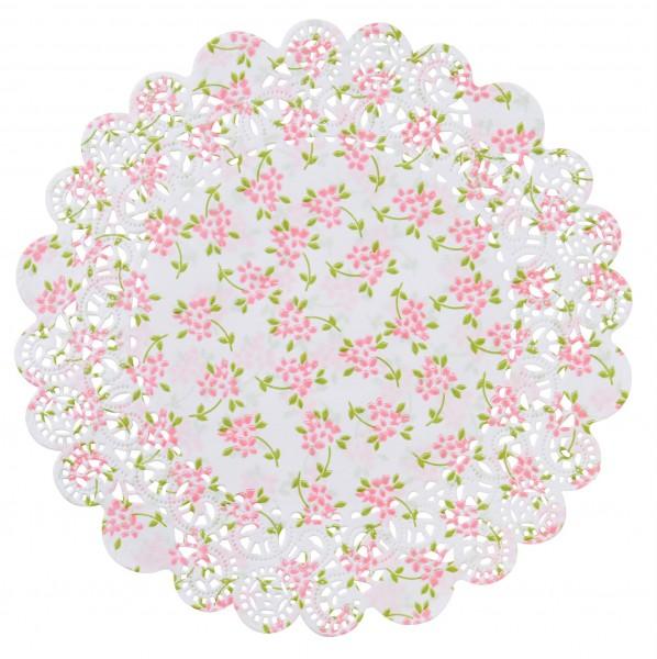Tortenspitzen, weiss, rosa, ø 18 & 23 cm