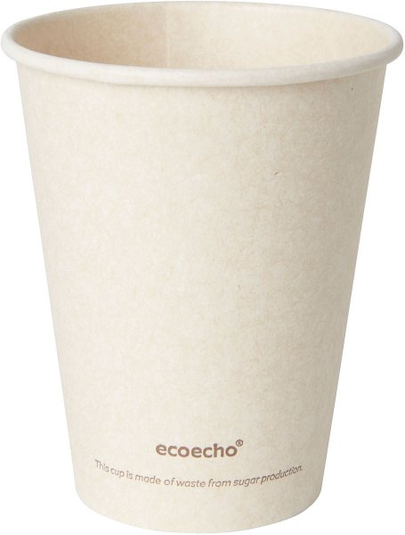 Bio Bagasse Becher, crème, 24 cl