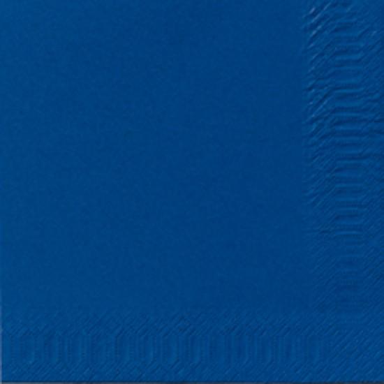 Papierservietten, einfarbig, blau, 33x33cm