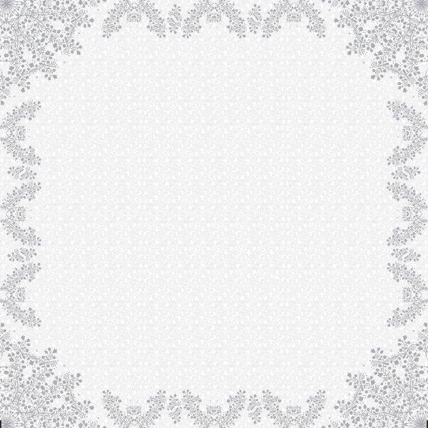 Mitteldecke Papier, Grau, 84 x 84 cm