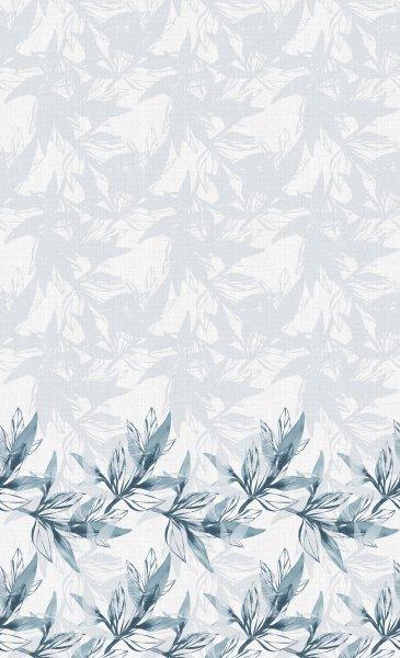 Tischdecke Papier, Grau, Blau, 138 x 220 cm