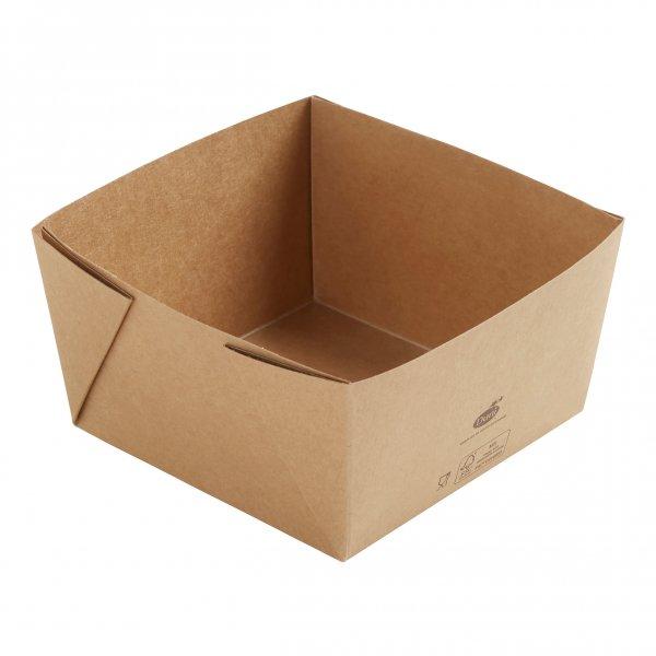 """Karton/PLA Box, Braun, 1,2 dl, """"Viking ecoecho Block"""""""
