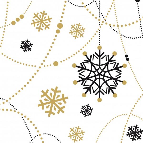 Papierservietten, Snow Necklace White, 24 x 24 cm