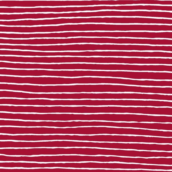 Papierservietten, weiss, rot, 33x33cm