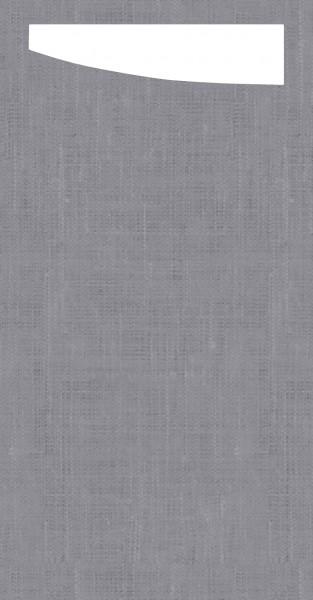 Bestecktasche Dunisoft, granitgrau, 11.5 x 23 cm