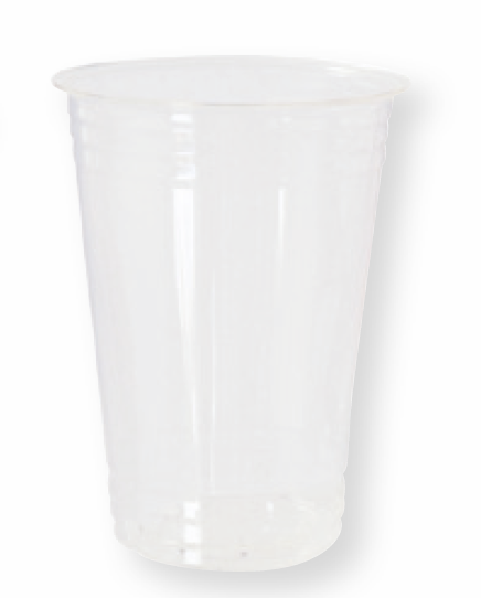 Plastikbecher Bio, transparent, 39cl