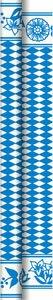 Tischtuchrolle, Blau, Weiss, 1.18 x 40 m