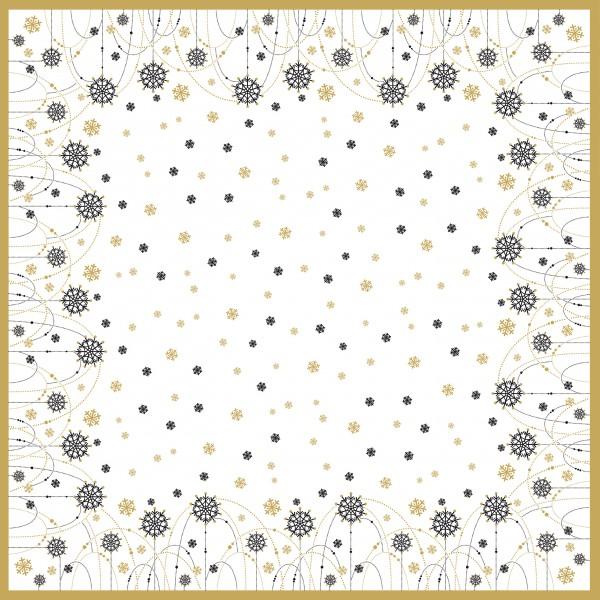 Mitteldecke Papier, Snow Necklace White, 84x84cm