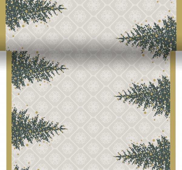 Tischset, Tischläufer, Tête-à-Tête Papier, Grau, Grün, 40 x 480 cm