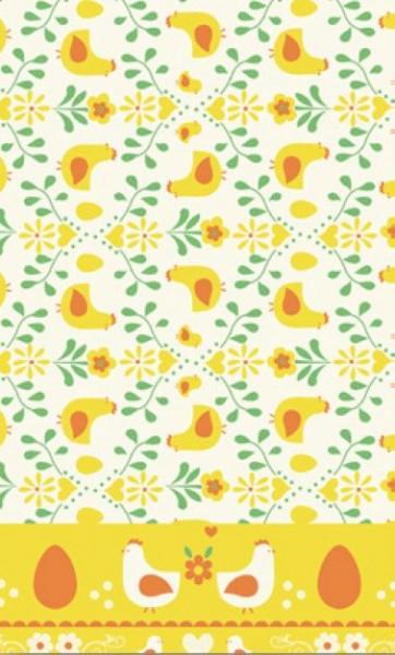 Tischdecke Papier, gelb, 138x220 cm