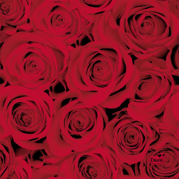 Papierservietten, Rot, 24 x 24 cm