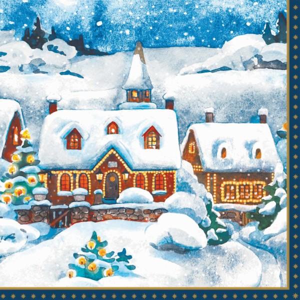 Papierservietten, Winter Village, 40 x 40 cm