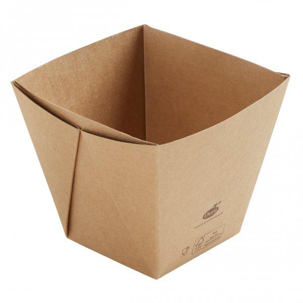 "Karton/PLA Box, Braun, 8,2 dl, ""Viking ecoecho Cube"""