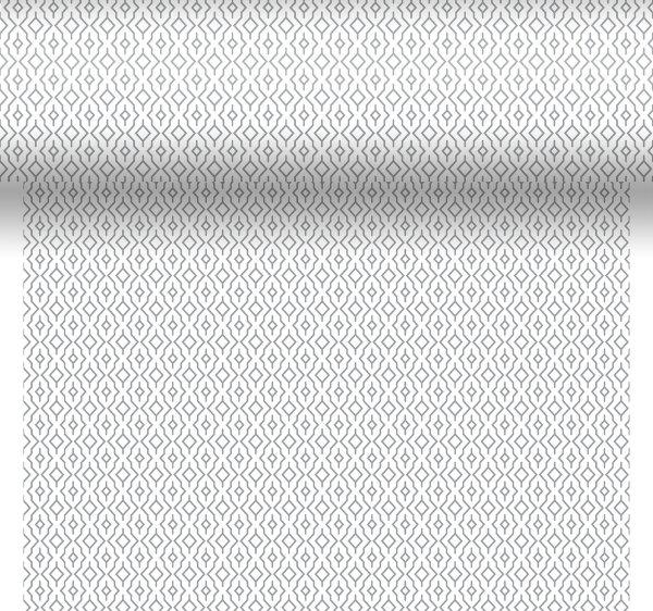Tischset, Tischläufer, Tête-à-Tête Papier, grau, 40 x 480 cm