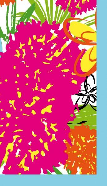 Mitteldecke Papier, pink, 84x84cm