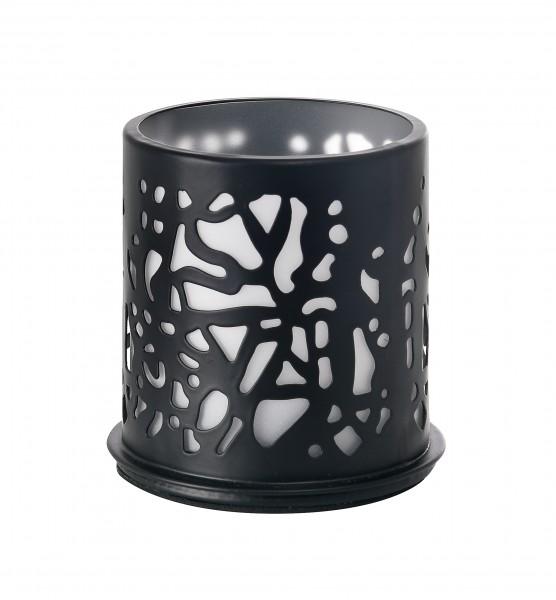 Twine Kerzenhalter, Metall, schwarz, 75 x 75 mm