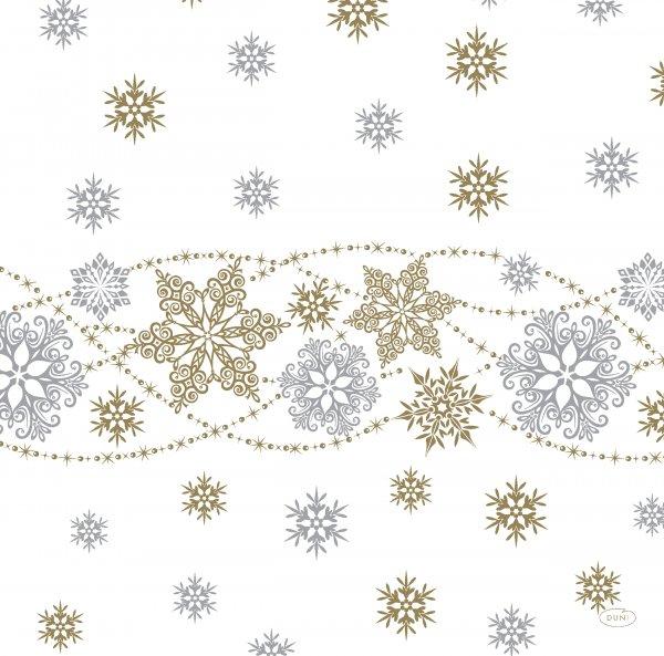 Papierservietten, Weiss, Gold, 40 x 40 cm