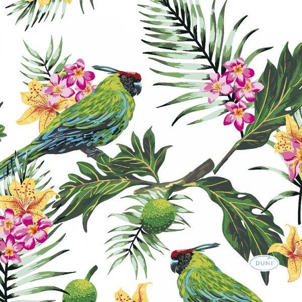 Papierservietten, Grün, Pink, 24 x 24 cm