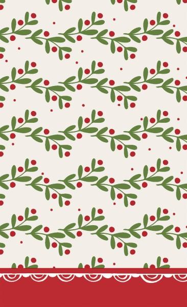 Tischdecke Papier, Happy Holly, 120x180cm