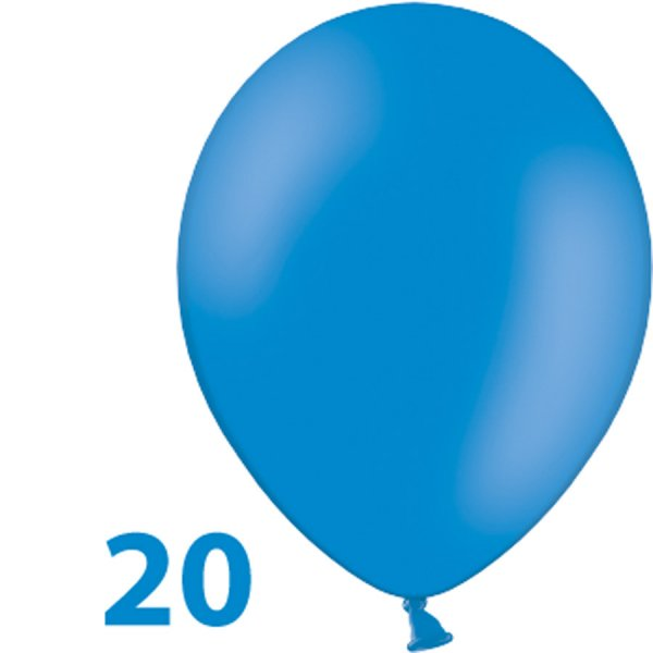 Ballons, Blau, 20 Stück