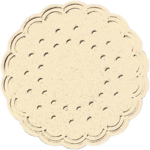 Papieruntersetzer, crème, Ø 7,5 cm