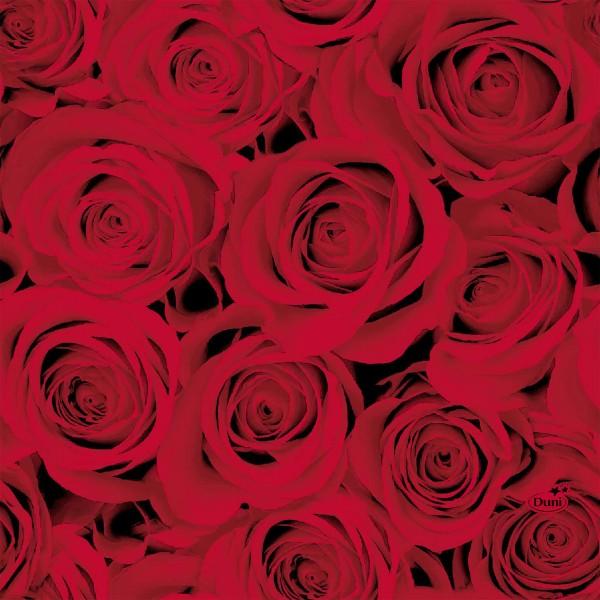 Papierservietten, Rot, 33 x 33 cm