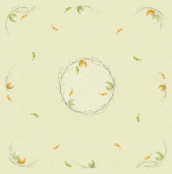 Mitteldecke Papier, Hellgrün, 84 x 84 cm