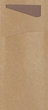 Bestecktasche Bio, nussbraun 8.5 x 19 cm